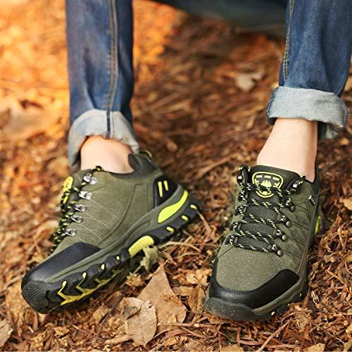 WOWEI Chaussures de Randonnée en Plein Air Imperméable Respirant Antidérapant Bottes de Trekking Promenades Voyages… 6
