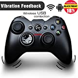 GooBang Doo G600 Vibration-Feedback Wireless USB Rechargeable 2.4Ghz Gamepad Controller Joystick Support PC(Windows Vista/7/8/8.1/10) & PS3 & Android (4.0 above)