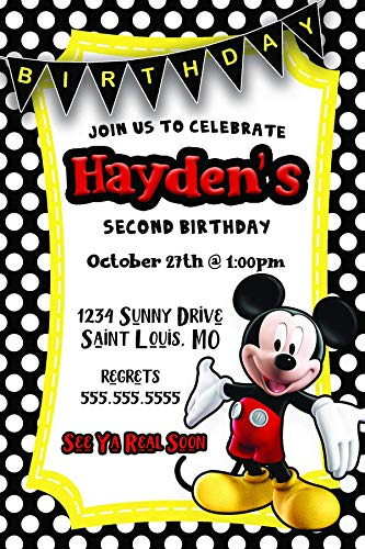 Mickey Mouse | Birthday Party Invitation |