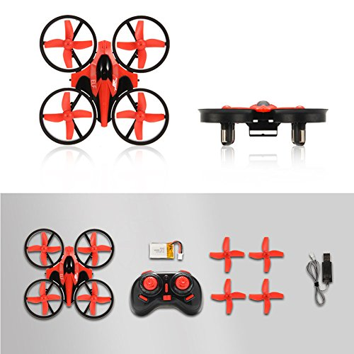 RCtown ELF Mini Drone for Kids, 2.4GHz 4CH Mini UFO RC Quadcopter Drone with 6-Axis Gyro Headless Mode Remote Control Nano Quadcopter (Red)