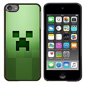 "Be-Star Único Patrón Plástico Duro Fundas Cover Cubre Hard Case Cover Para iPod Touch 6 ( Hierba Verde Squared objeto de equipo"" )"
