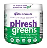 pHresh greens Organic Raw Alkalizing Superfood Greens Powder - 1 Month Supply |