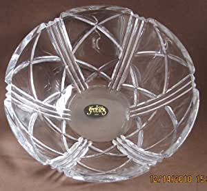 "Crystal Clear Studios Crystal Bowl - Serving Dish 7"" Diameter (Top) x 3"" High (Japan)"