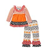 belababy 5-6T Girls Halloween Pajamas Set Tutu Dress with Pants