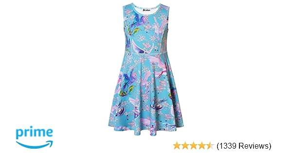 7cae87457c3b Amazon.com  Jxstar Girls Unicorn Dress