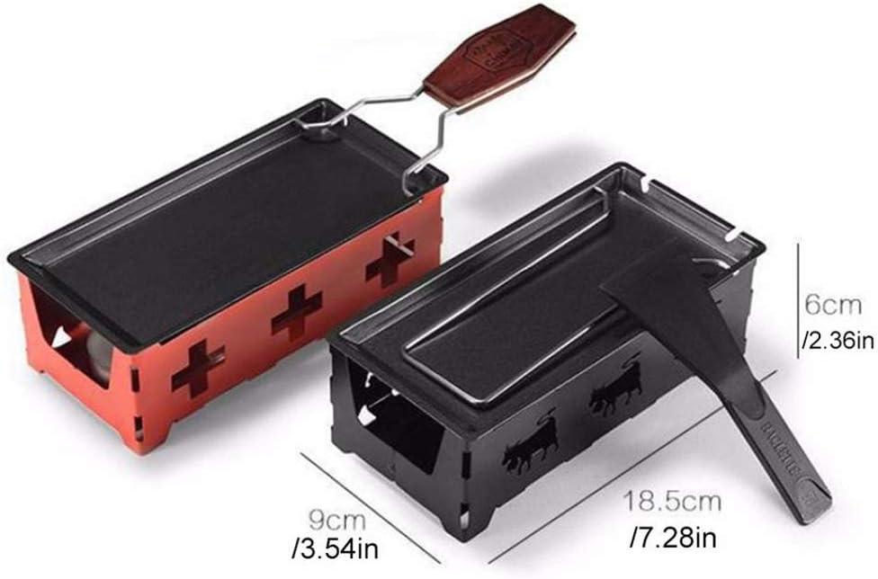 Moule à pâtisserie Fromage Portable Four Mini antiadhésifs Beurre Noir Pan 18.5X6x9cm style barbecue Plateau vaisselle durable Accueil Cuisine Cadeaux Amant,Noir Black