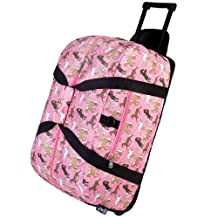 Wildkin Horses in Pink Good Times Rolling Duffel Bag