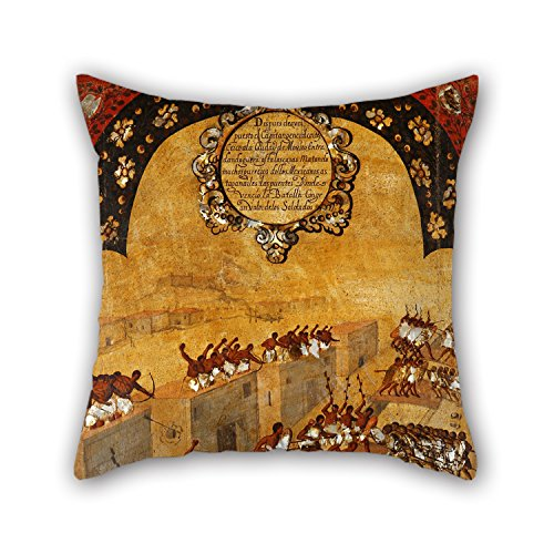 (Artistdecor Christmas Pillow Shams Of Oil Painting Miguel Gonzales - La Conquista De MÃxico. Tabla XX 16 X 16 Inches / 40 By 40 Cm Best Fit For Couch Club)