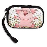 Cute Pig Happy Pink Piggy Travel Passport Wallet,New Design Multi-function Purse,Card Holder Cell Phone Key Bag,Long Zipper Wallet Handbag.