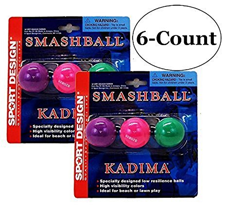 Price comparison product image Sport Design Replacement Beach Balls for Beachball Smashball Kadima Watercolors (Set of 6 Balls)
