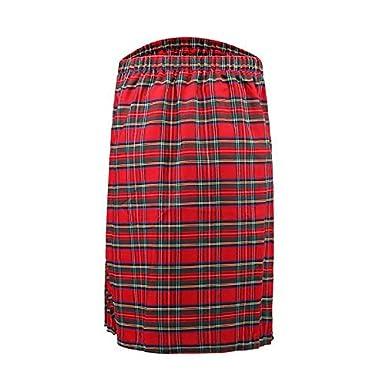 Puimentiua Falda escocesa para hombre, falda tradicional para ...