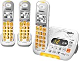 Uniden DECT 6.0 Cordless Phone with Caller ID Answering System and 2 Additional DCX 309 Handsets - White (D3097-3)