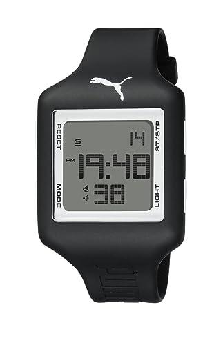 Puma Slide L - Reloj digital con correa de poliuretano unisex, color negro y gris/LCD: Amazon.es: Relojes