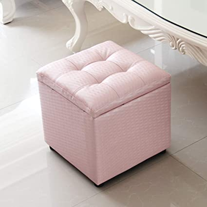 Awesome Amazon Com Zzaini Tufted Faux Leather Square Ottoman Cube Evergreenethics Interior Chair Design Evergreenethicsorg