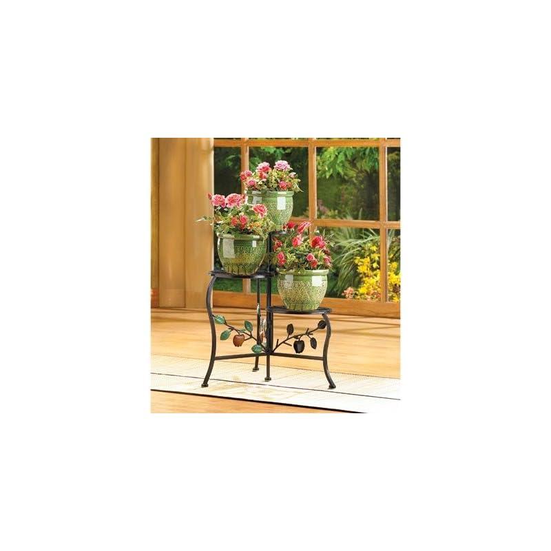 Garden Planters Iron Plant Stand Multi Tiered Indoor Outdoor