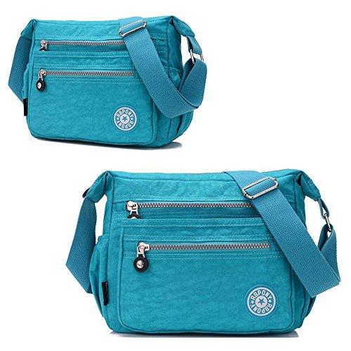 Bag Messenger Shoulder Body Cross Women's pocket Blue Multi Casual Sky Canvas Handbags Travel Waterproof AllRight Purple Fvw0BqaF