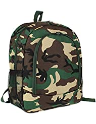 Ever Moda School Backpack with Padded Straps Green Camouflage