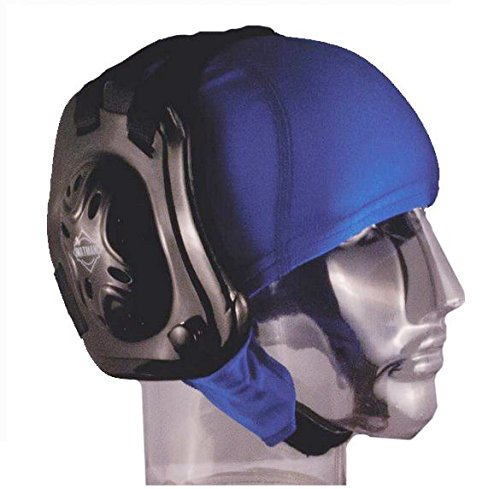 Eyelet Cover - Matman Wrestling Hair Cap with Eyelets to Hook to Ear Guards, Youth (Royal Blue)