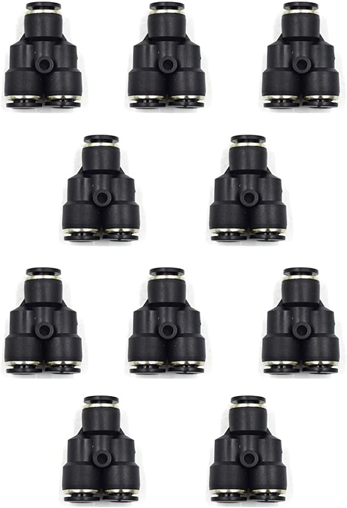 HONJIE 1//4 inch Male Straight Brass Push to Connect Pneumatic Fittings-5 PCS