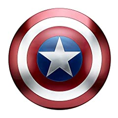 Iconic in design and durability, Captain America's shield is the ultimate combination of offense and defense. Whether ricocheting into combat or fending off enemy attacks, Captain America's signature shield is essential to victory. Highly det...
