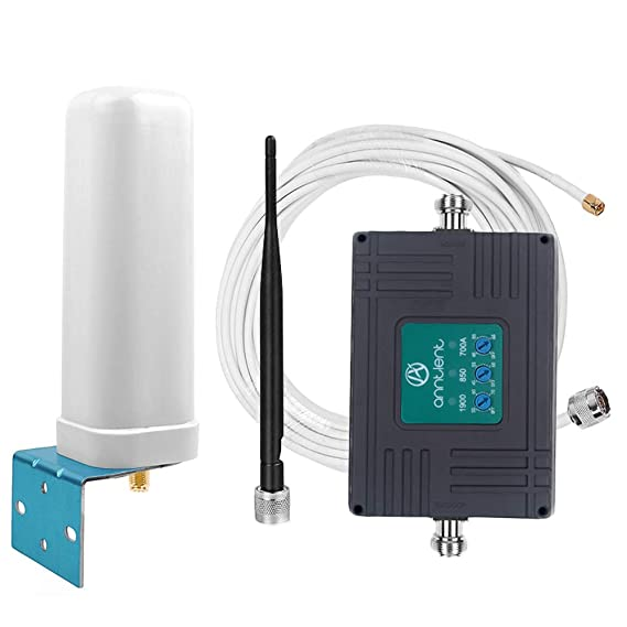 ae03a738e9d211 ANNTLENT Tri-Band Cell Phone Booster 850/1900/700Mhz Band 2/5/12/17 LTE Antenna  Cell Signal Booster for Home and Office-Boost 2G 3G 4G Voice and Data: ...