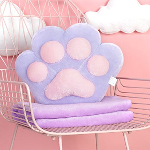 Dog Claw Bear Palm Office Napkin Air conditioning Quilt Cushion Pillow Blanket ()