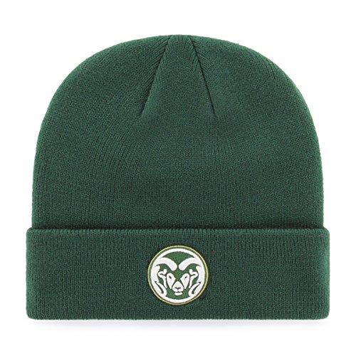 OTS NCAA Colorado State Rams Raised Cuff Knit Cap, Dark Green, One Size