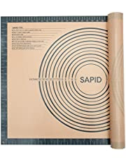 """Sapid Extra Thick Silicone Pastry Mat (20""""×28"""") Non-slip with Measurements for Non-stick Silicone Baking Mat Extra Large, Dough Rolling, Pie Crust, Kneading Mats, Countertop, Placement Mats (1,Gray)"""