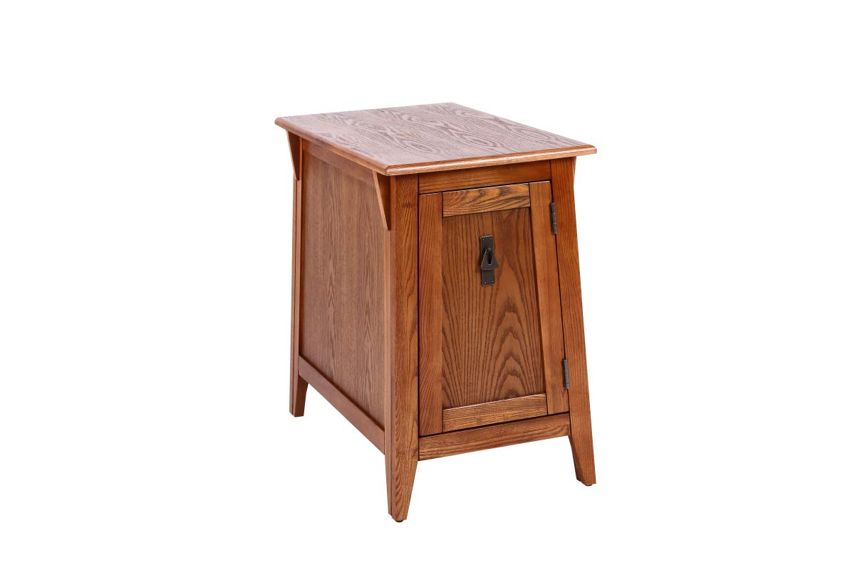 Phoenix Home Tilburg Mission-Style Wood Cabinet End Table, Burnt Sienna