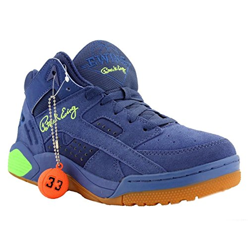 Patrick Ewing Athletics Ewing Wrap Mens Basketball Shoes 1EW90122-470 Dutch Blue Gecko Green-Gum 12 M US