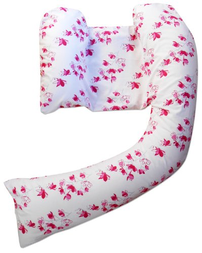 Spare Pillow Cover For Dreamgenii Pregnancy Pillow - Pink Oriental Blossom