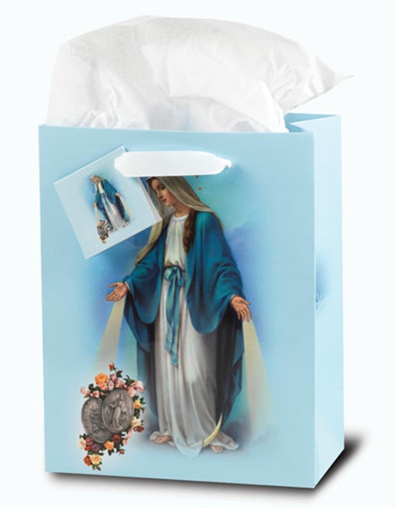 WJ Hirten GB-200L Large Our Lady of Grace Inspirational Gift Bag