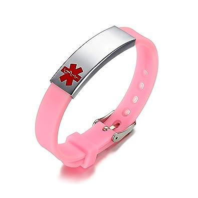 HooAMI Bracelet Medical ID Homme Femme Gravure Personnalisé Type De Maladie  Bracelet Survie d urgence Réglable pour Patients Personnes Agées   Amazon.fr  ... 3f111007c413
