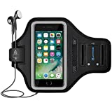LOVPHONE iPhone 7/8 Plus Armband, Man/Women Running Sport Armband for iPhone 7/8 Plus Suitable for Gym Workout w/Kickstand Key Bag Earbuds Holder Card Slot Case, Water Resistant (Gray)