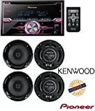 Pioneer FH-X720BT 2-DIN CD Receiver with Mixtrax and Bluetooth (Discontinued by Manufacturer) W/ 4) New Kenwood KFC-1665S 6.5 Inch 600 Watt 2-Way Car Audio Door Coaxial Speakers