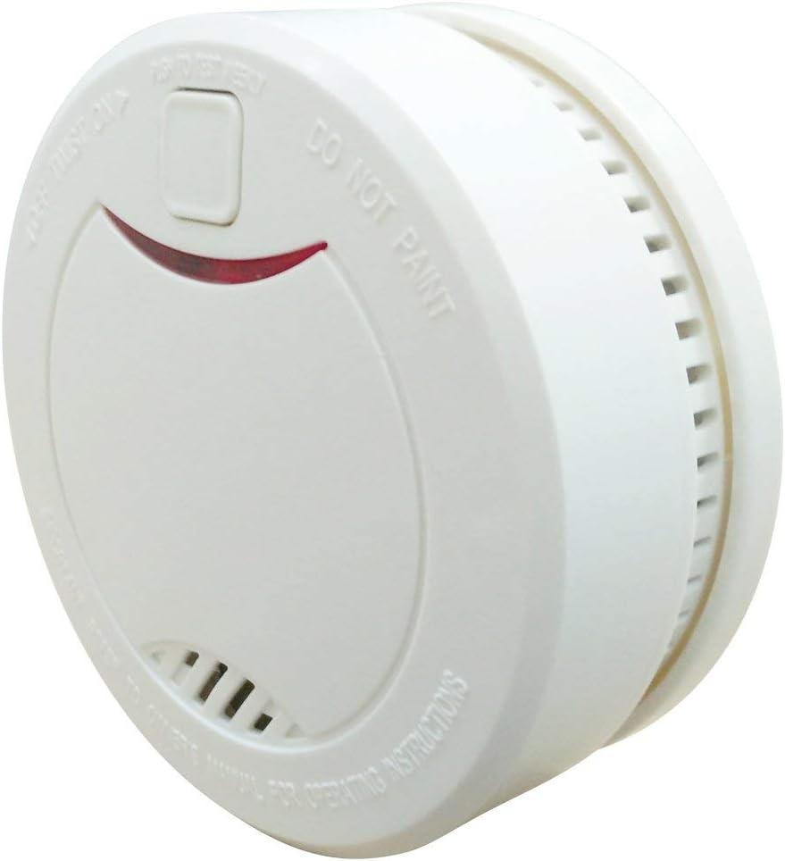 Heimaan Lot de 1 d/étecteurs de fum/ée 10 Ans avec statut LED et capteur photo/électrique Blanc