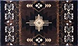 Champion Rugs Southwest Native American Area Rug Carpet Chocolate (24 Inch X 40 Inch Mat)