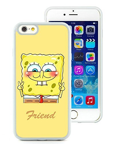 Best Friend SpongeBob Patrick 1 White iPhone 6 4.7 inch TPU Screen Cover Case Newest and Luxurious Look