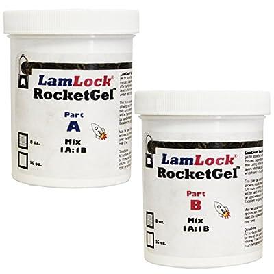 LamLock RocketGel 25 Minute Epoxy - 16 oz Kit