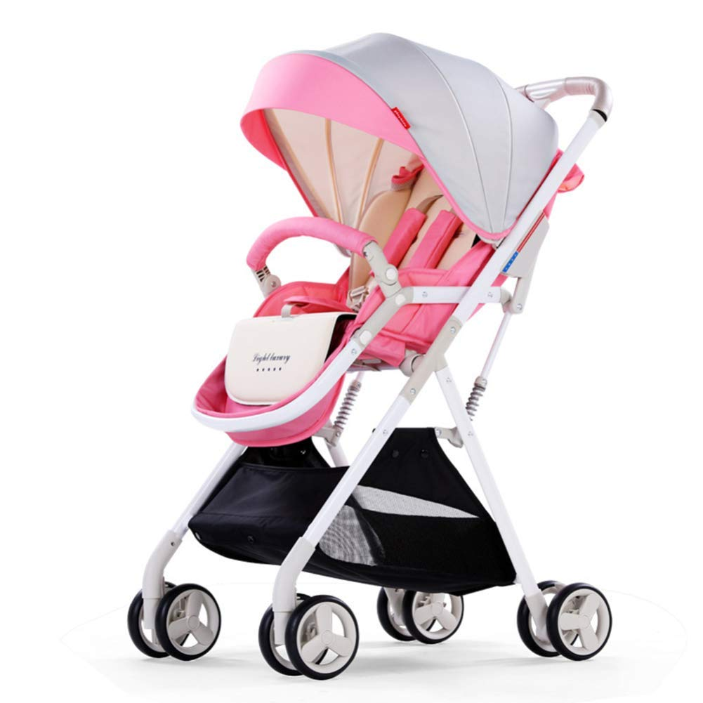 Passeggino Baby Carriage Passeggino, Ultra Light Portable Small può sedersi Reclinabile Shock Folding Folding Passeggino, B