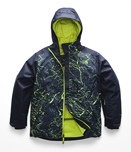 The North Face Kids Boy's Brayden Insulated Jacket (Little Kids/Big Kids) Lime Green Granite Print XX-Small