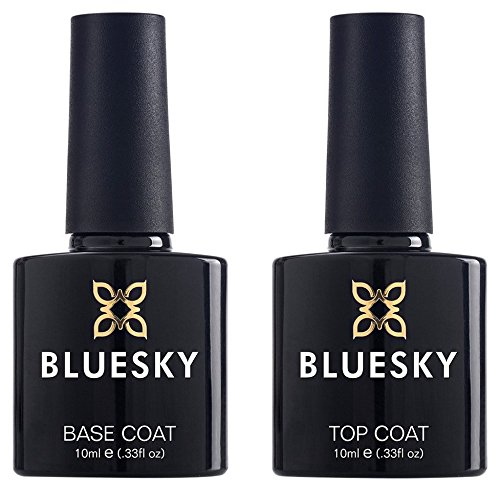 Bluesky UV LED Gel auflösbarer Nagellack 10ml kit top and base coat, 1er Pack (1 x 2 Stück) product image