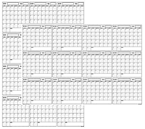 SwiftGlimpse 24x36 Large Jumbo Oversized Erasable Laminated Blank Annual Yearly Wall Calendar Poster, 12 Months, Reusable for Office, Academic or Home Two-Sided Reversible