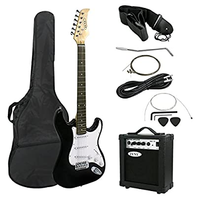 "Zeny 39"" Full Size Electric Guitar with Amp, Case and Accessories Pack Beginner Starter Package"