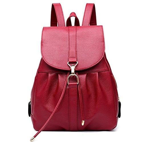 souple 11 31cm sac en cuir femmes de 24 à dos multifonctionnel mode sac PU décontracté main Sac à de wTzqU
