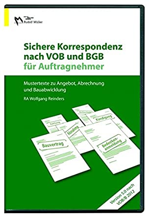 Sichere Korrespondenz Nach Vob Und Bgb Für Auftragnehmer 2012 Cd