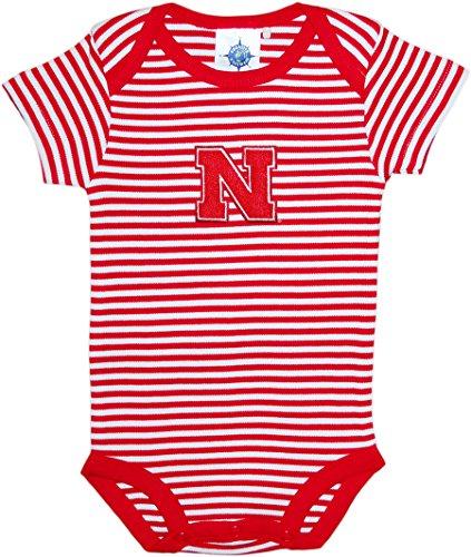 University of Nebraskas Cornhuskers Newborn Striped Baby Bodysuit Scarlet 3-6 Months