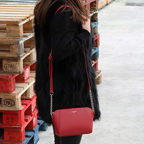 A Jones Trapezio David Borsa Mini Da Catena Pelle Borse Pu Donna Borsetta Mano Moda Bianco Piccola Grande Rosso Sera Spalla Messenger Tracolla Crossbody Bag Città Elegante dXrXpq