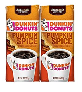 Dunkin' Donuts Flavored Ground Coffee, Pumpkin Spice, 2 Count