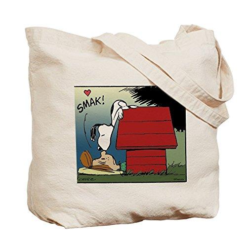 CafePress–Snoopy Kiss–Gamuza de bolsa de lona bolsa, bolsa de la compra Small caqui